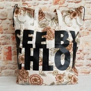 New See by Chloe Live Printed Fabric Tote Bag
